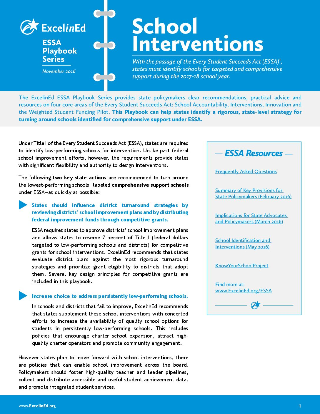 ESSA Playbook: Interventions – November 2016>									 									</a> 									<a href=