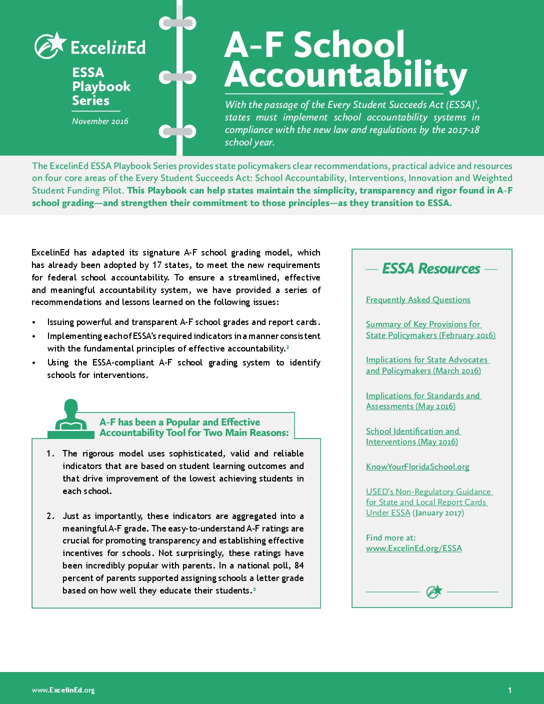 ESSA Playbook: A-F School Accountability – November 2016>									 									</a> 									<a href=