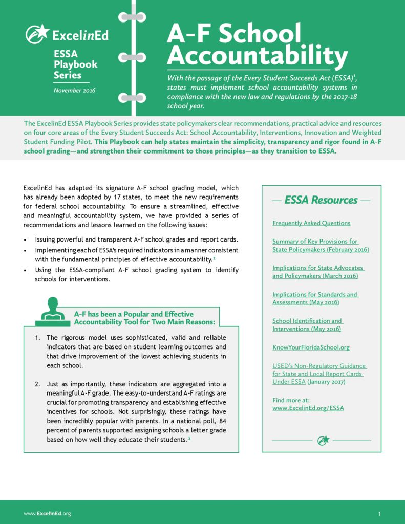 ESSA Playbook: A-F School Accountability &#8211; November 2016>									 									</a> 									<h5><a href=