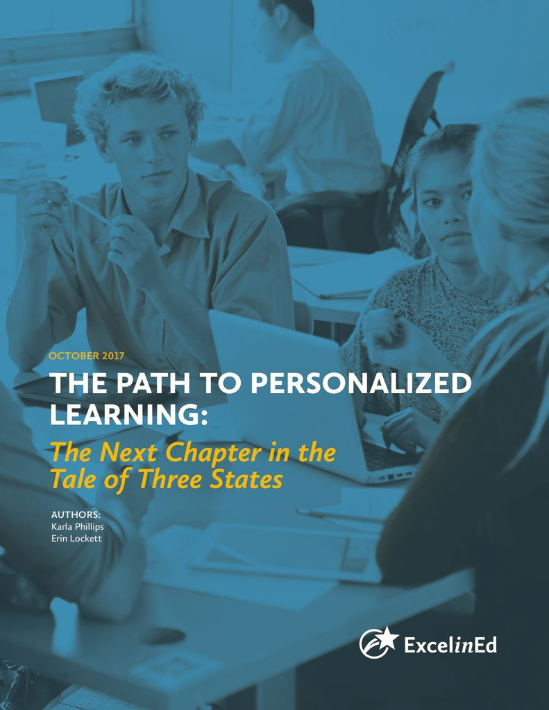 The Path to Personalized Learning: The Next Chapter in the Tale of Three States &#8211; October 2017>									 									</a> 									<h5><a href=