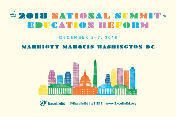 The 2018 National Summit on Education Reform will take place Dec. 5-7, 2018 in Washington, D.C.