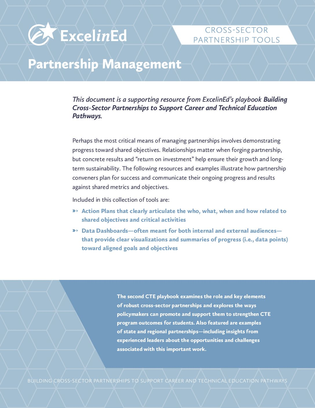 Playbook 2: Cross-Sector Partnership Tools &#8211; Partnership Management &#8211; May 2018>									 									</a> 									<h5><a href=