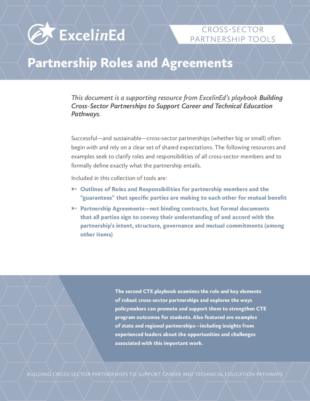 Playbook 2: Cross-Sector Partnership Tools &#8211; Partnership Roles and Agreements &#8211; May 2018>									 									</a> 									<a href=