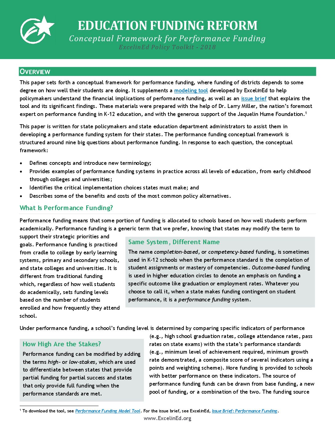 Education Funding: Conceptual Framework for Performance Funding &#8211; 2018>									 									</a> 									<a href=