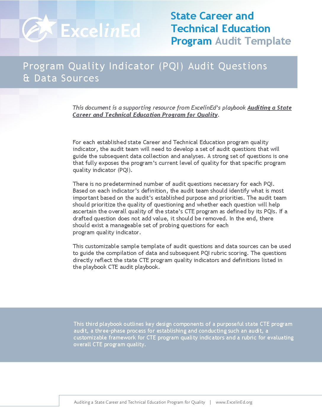 Playbook 3: CTE Audit Template &#8211; PQI Questions &#038; Data Sources>									 									</a> 									<a href=