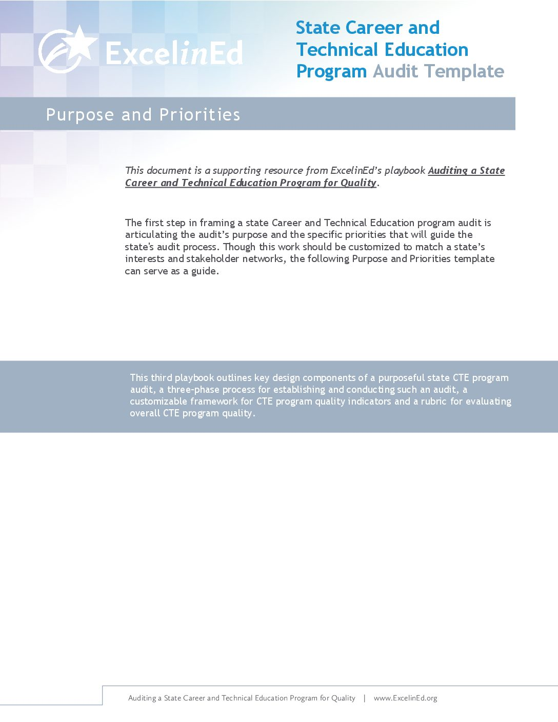 Playbook 3: CTE Audit Template &#8211; Purpose &#038; Priorities>									 									</a> 									<a href=