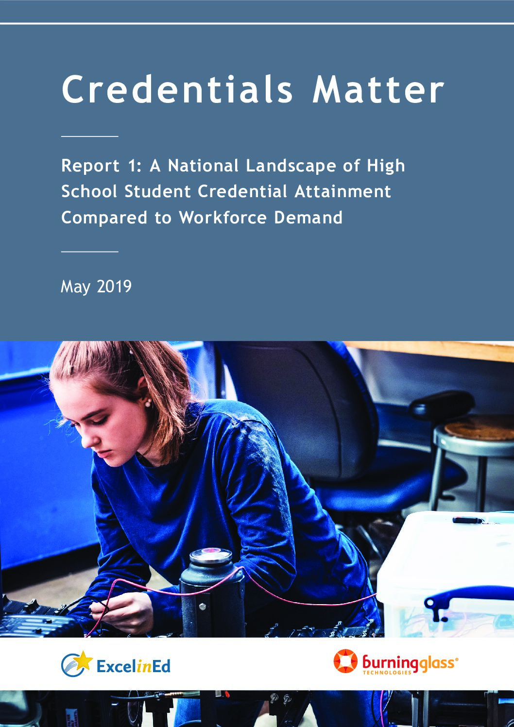 Credentials Matter Report 1: A National Landscape of High School Student Credential Attainment Compared to Workforce Demand – May 2019>									 									</a> 									<a href=