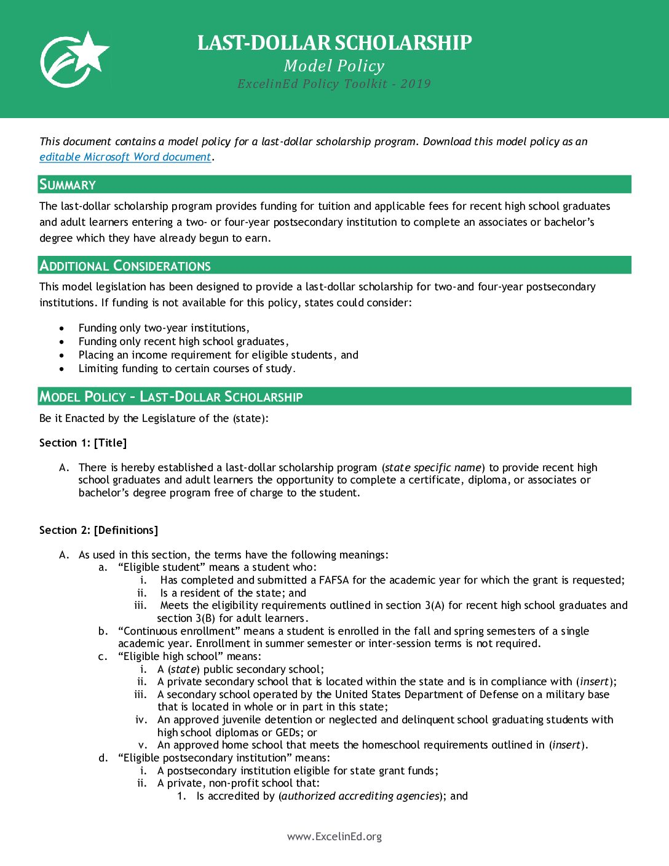 Last-Dollar Scholarship Model Policy – 2020> </a> <a href=